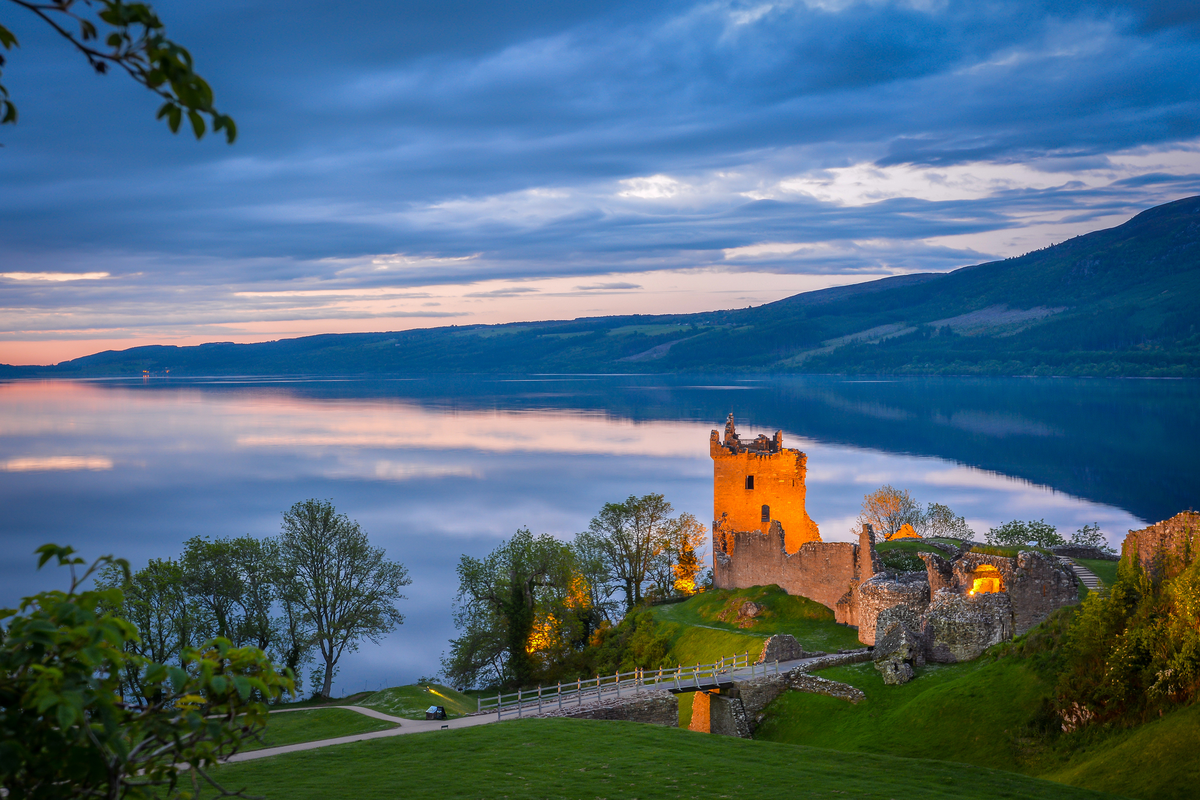 View of Urquhart Castle and Loch Ness in Scotland Black Friday