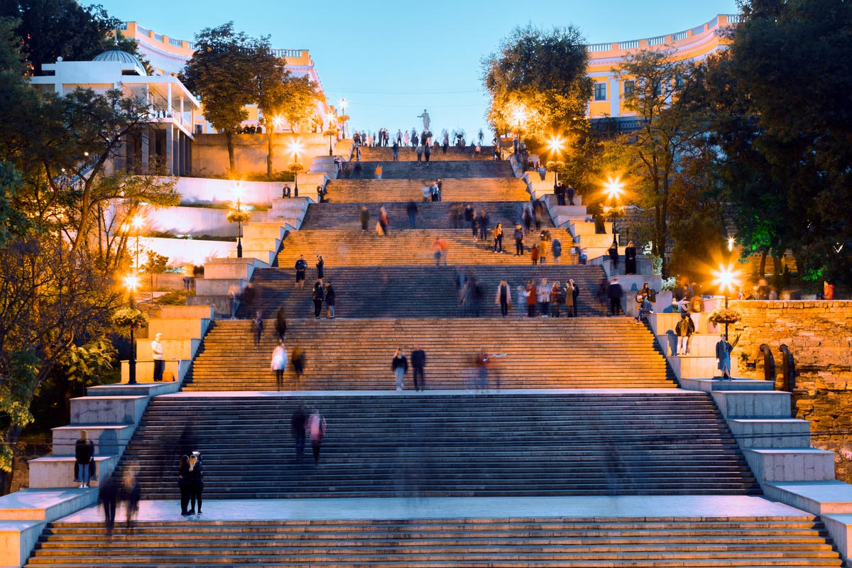 Potemkin stairs in the evening