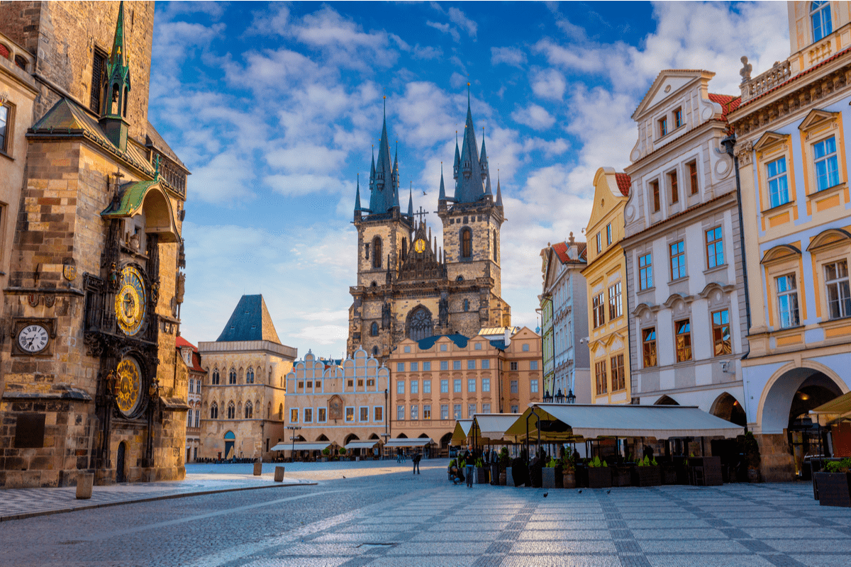 View of the Church of Our Lady of Tyne in Prague, Czech Republic Black Friday
