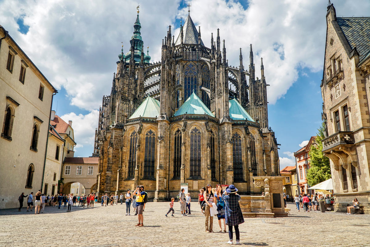 St Vitus Cathedral in Prague Castle complex