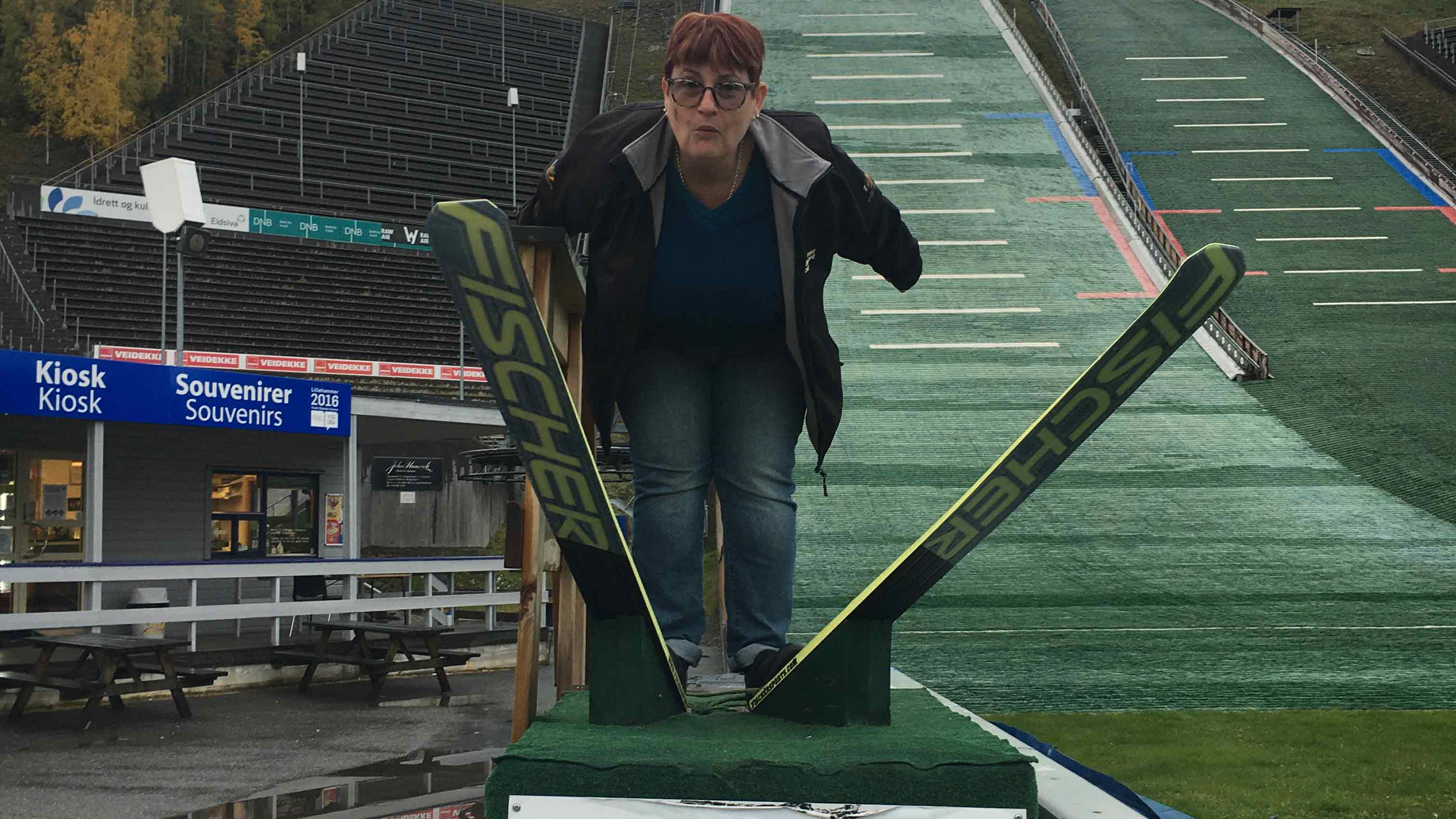 Pat went ski jumping at Lillehammer