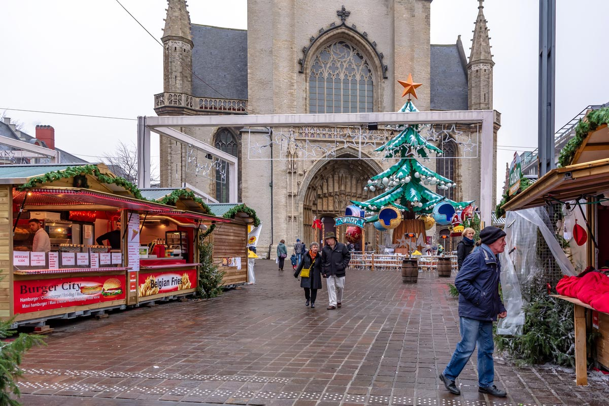 Christmas market in Ghent