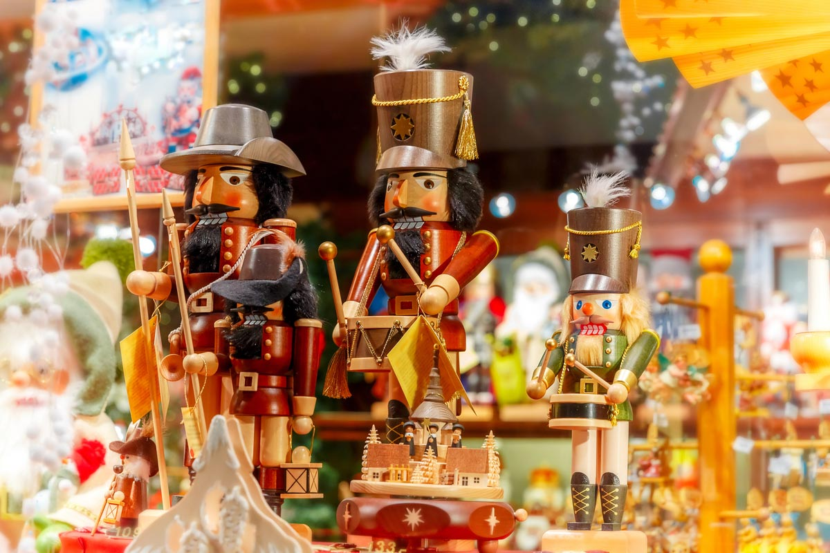 Nutcrackers are a great festive treat at Namur Christmas market