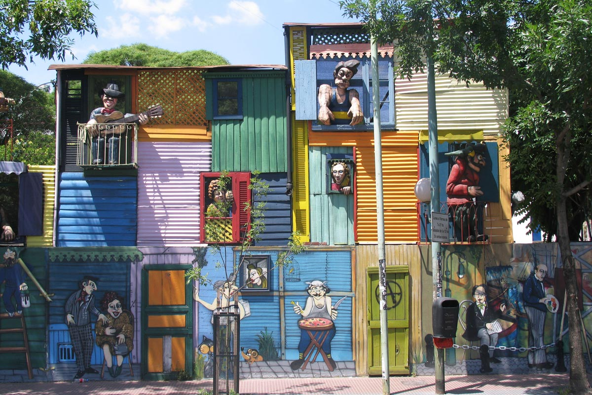 A typical house in La Boca, Buenos Aires