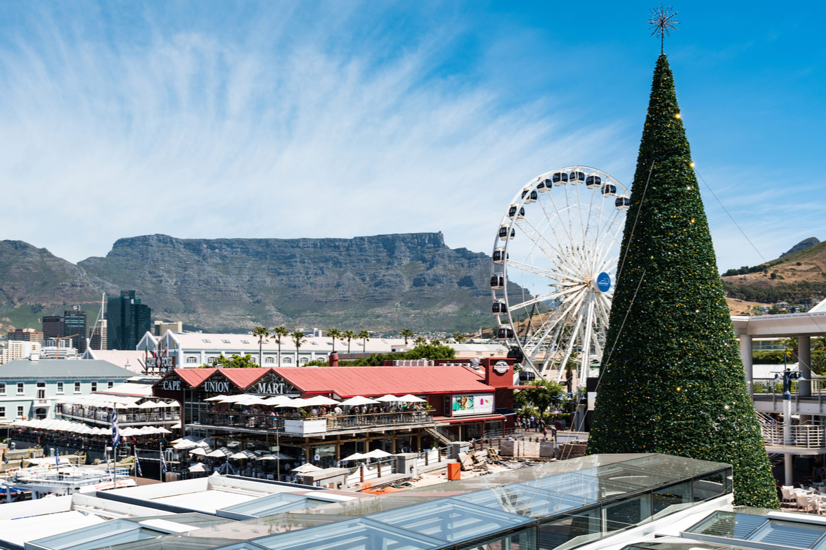 Christmas in the V&A Waterfront in Cape Town