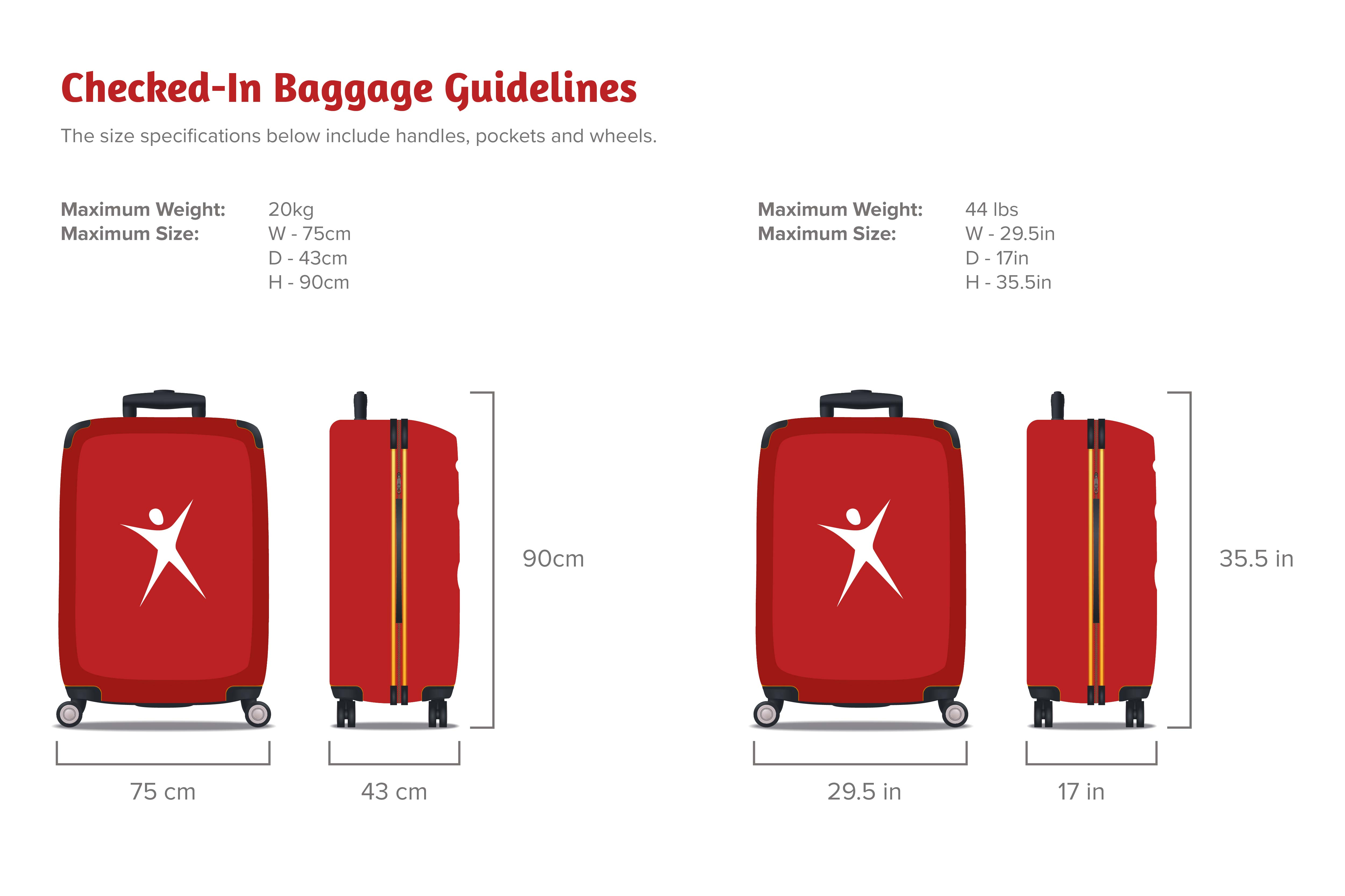 Knowing the luggage restriction makes it easier to pack.