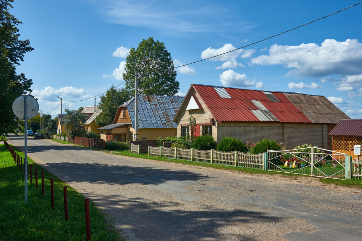 Lyntupy village in Myadel district, Belarus