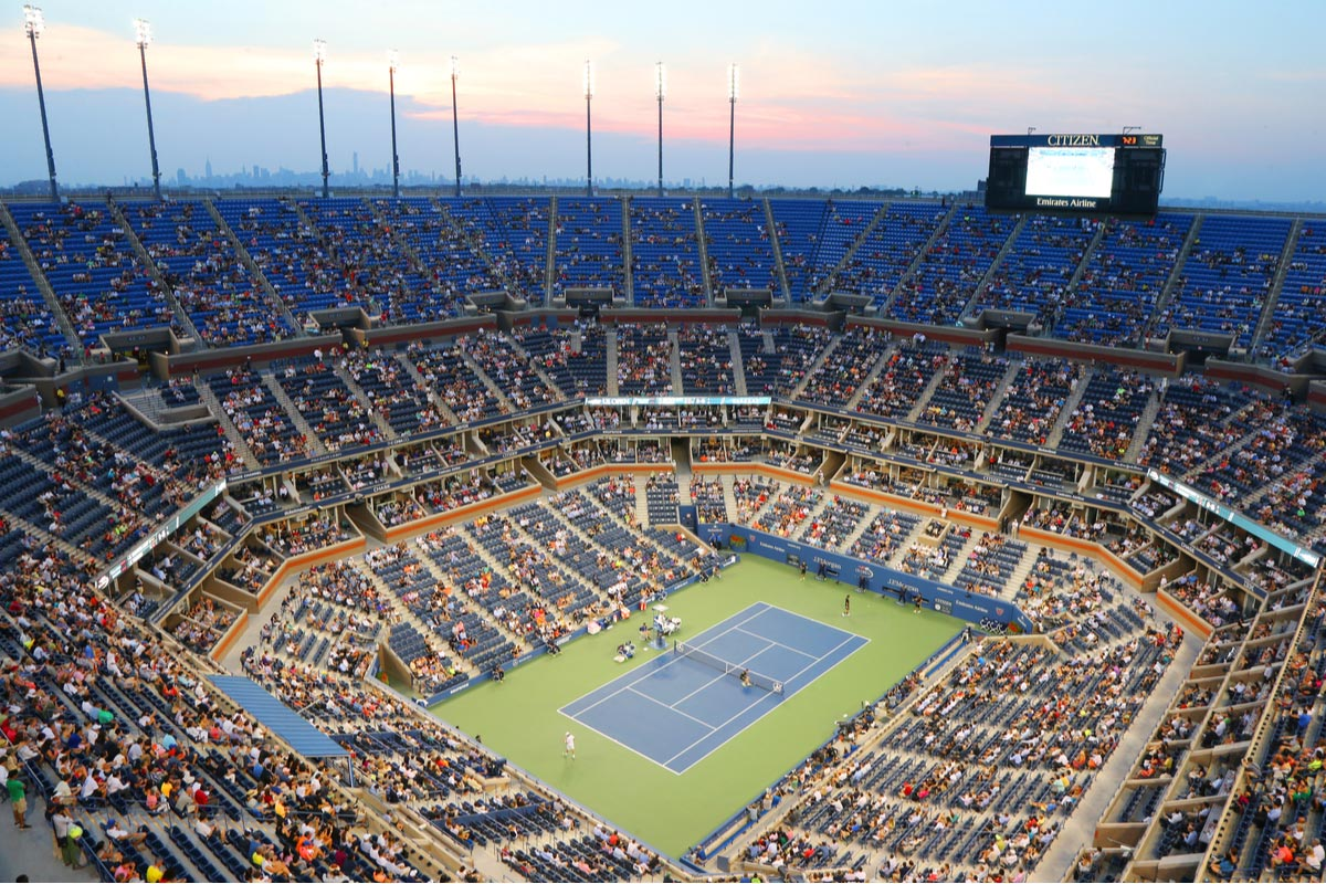 US open night at Bullie Jean King National Center in New York