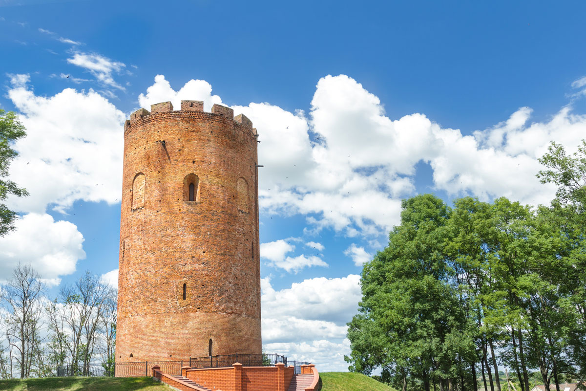 Kamyenyets tower (or White tower) in Belarus survived from the middle ages