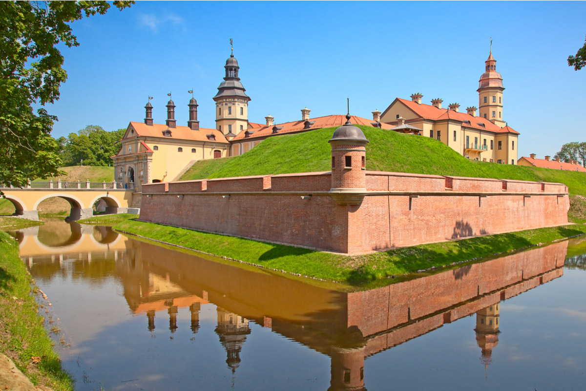 The medieval castle in Nesvizh, the Republic of Belarus