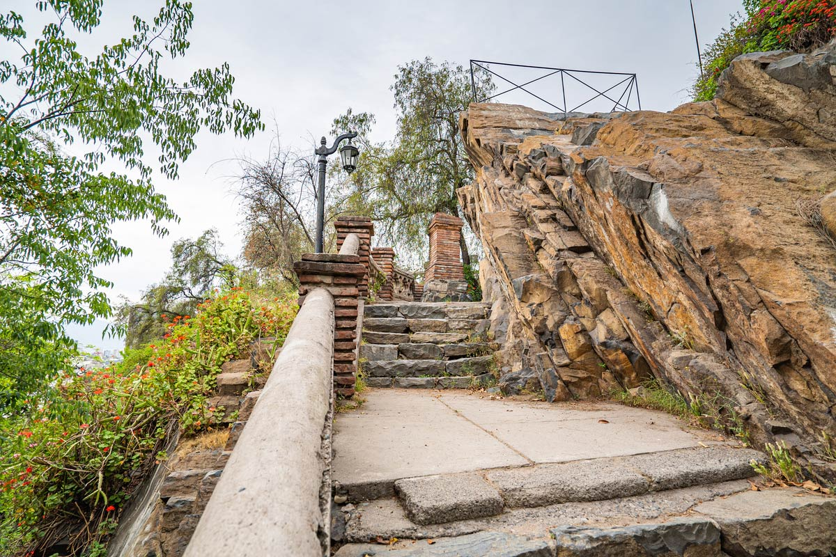 Old stone stairs in Santa Lucia Hill