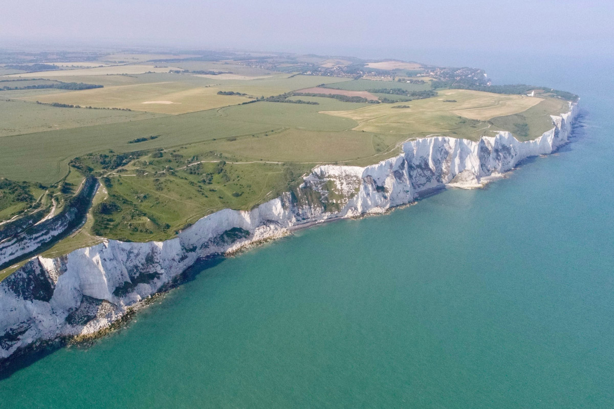 The historical White Cliffs of Dover