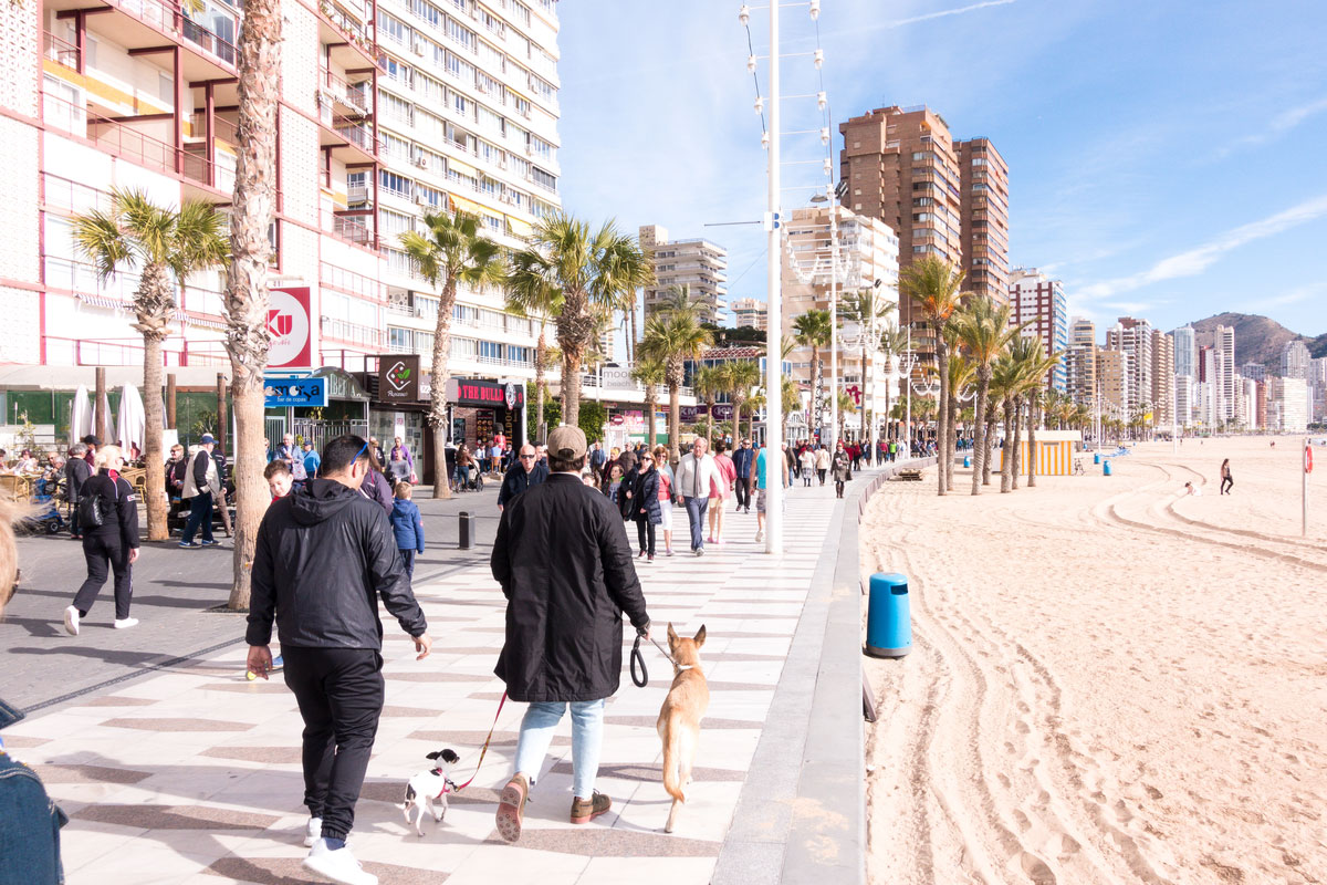 Winter in Benidorm, Spain