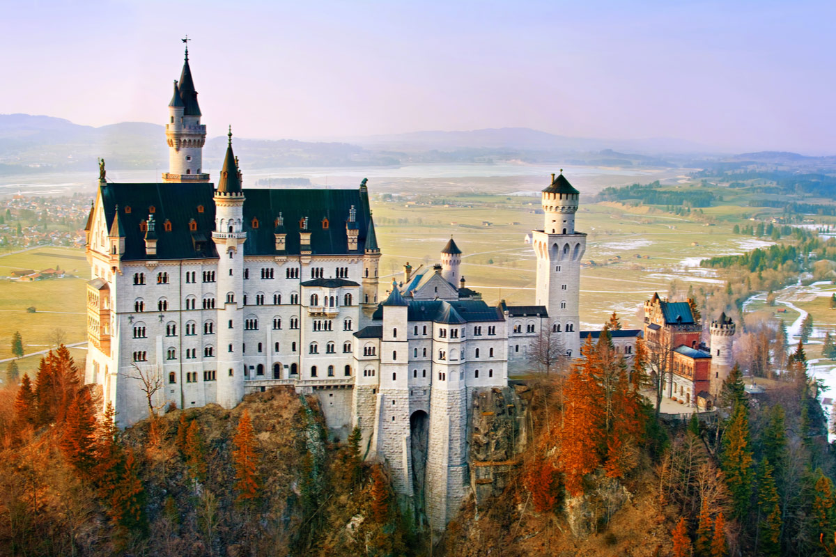 Beautiful Neuschwanstein castle, near Munich in Bavaria, Germany