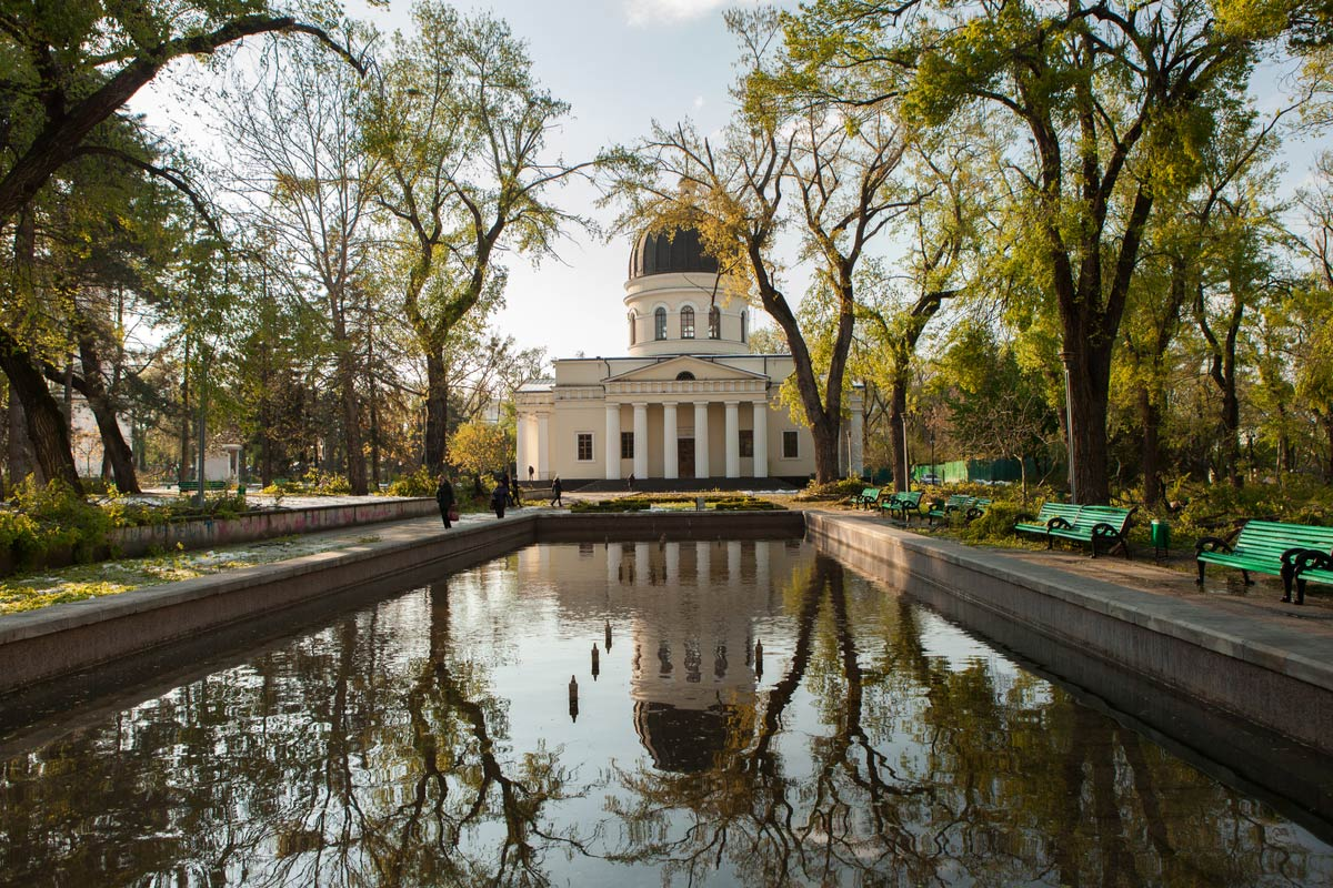 Bell tower of the Nativity Cathedral in Chisinau - Moldova