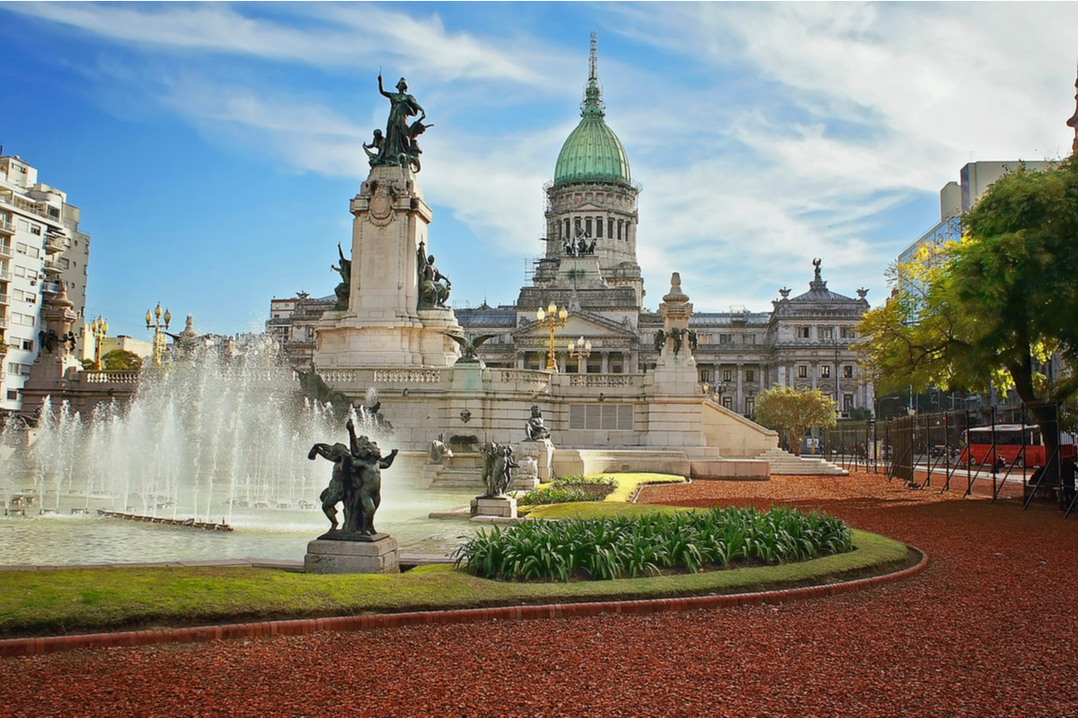 The beautiful National Congress building in Buenos Ares