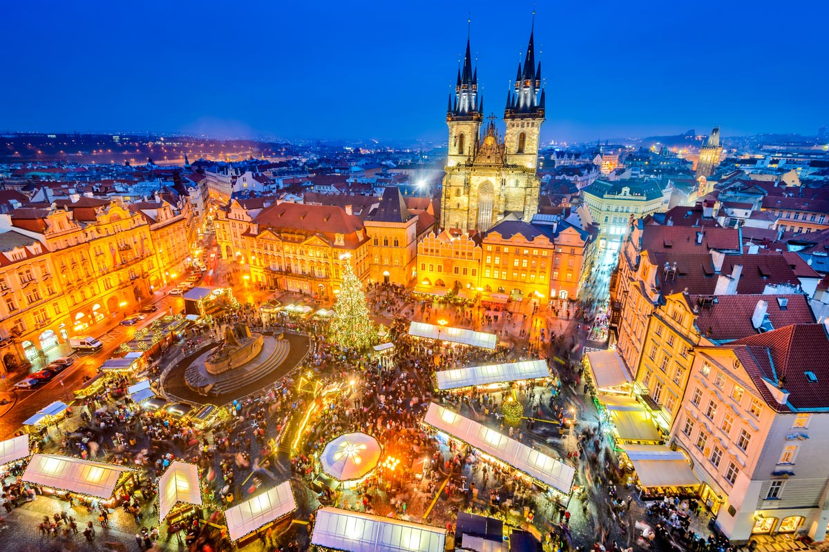 Christmas Market in Stare Mesto old square, Prague