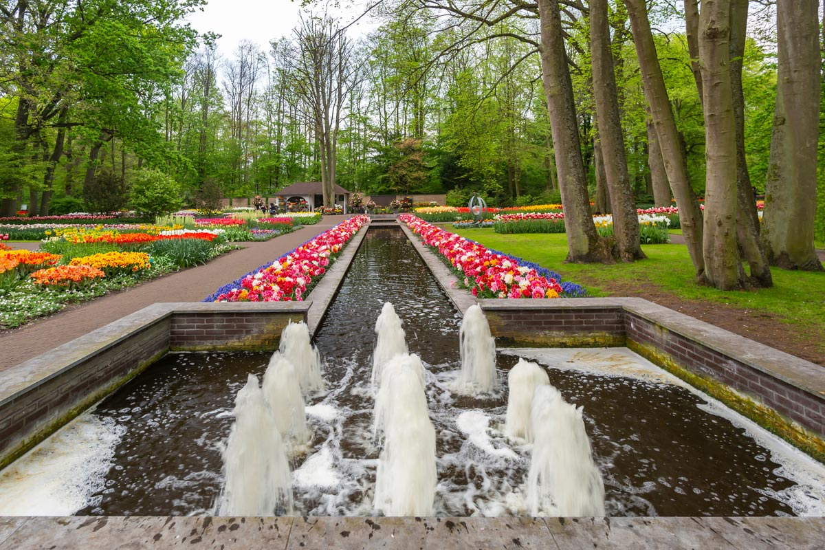Keukenhof is the world's most beautiful spring flower garden. It's definitely a must-see place in Holland.