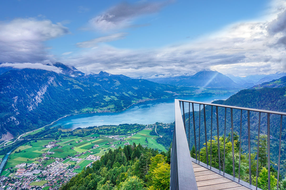 Panoramic view of Interlaken from Harder Kulm viewpoint