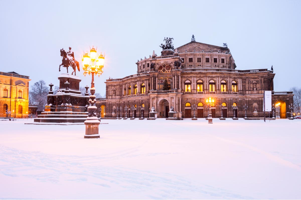 Semperoper in the winter time