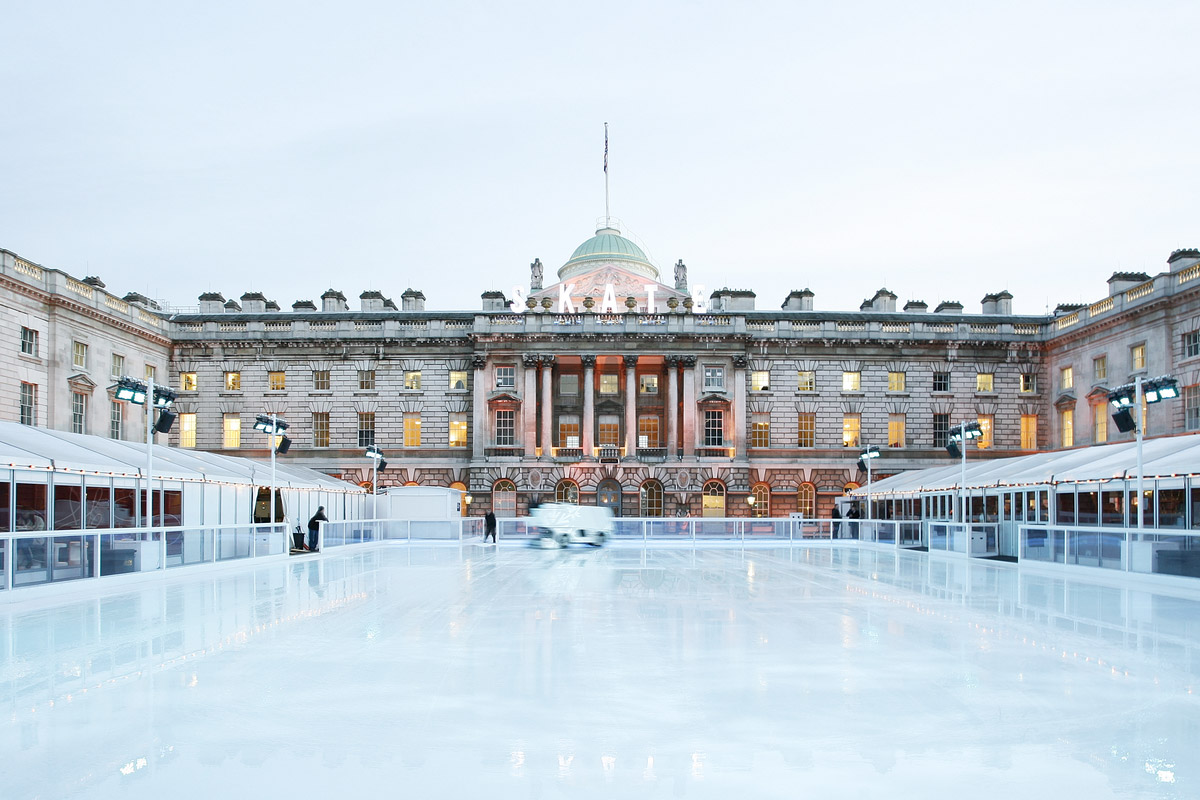Somerset House ice rink in Strand, London