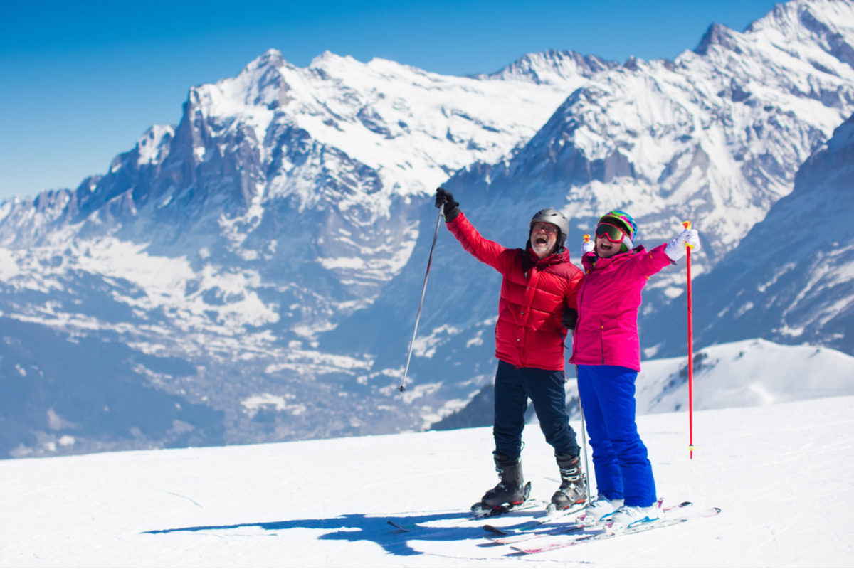 Enjoy a skiing adventure with your other half in the Alps mountains