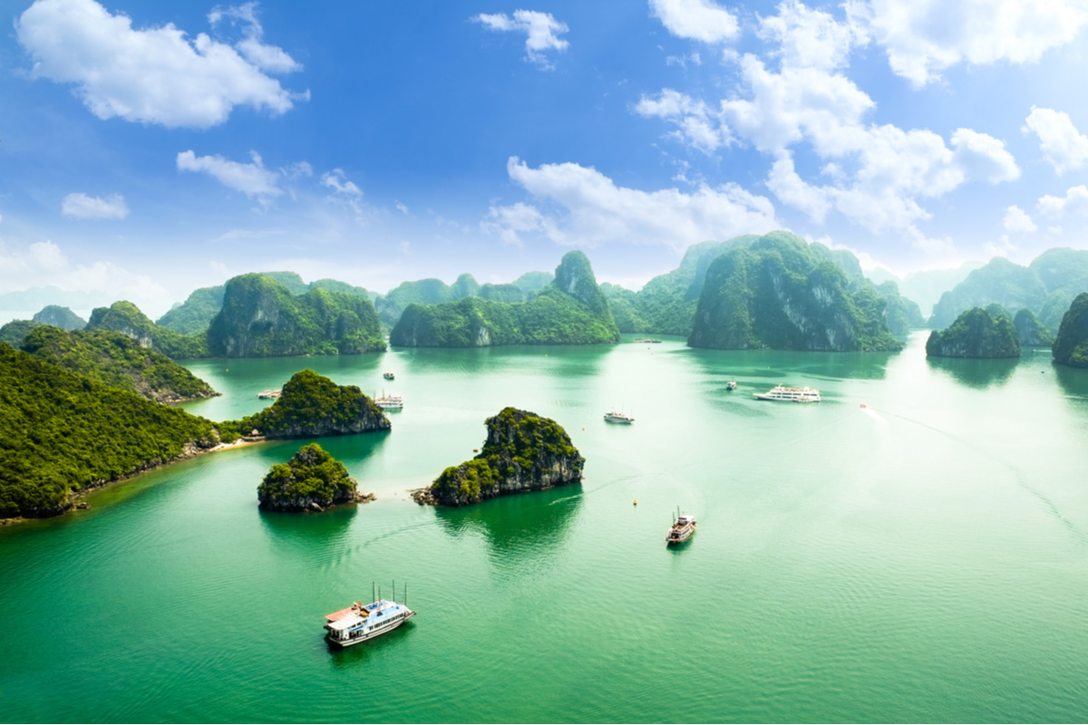 Halong Bay in Vietnam a UNESCO World Heritage Site
