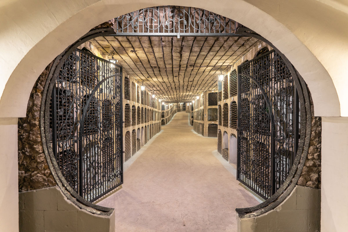 Inside the underground tunnels of Milestii Mici winery, the biggest winery in the world