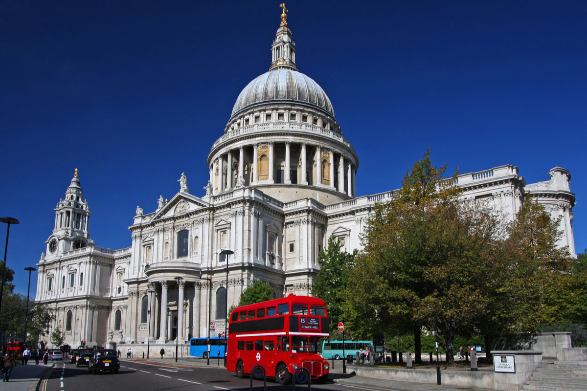 St Paul's Cathedral, famous landmark in London