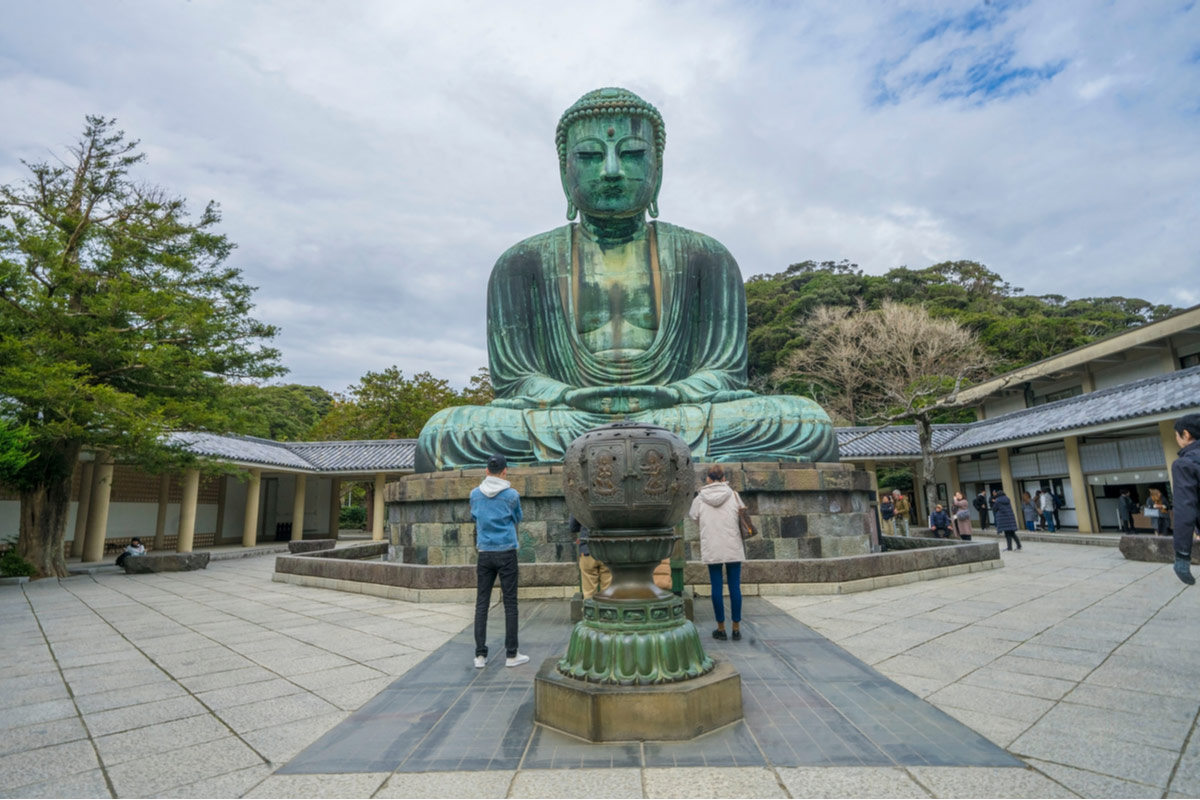 The Great Buddha of Kamakura is the top landmark of tourist place in Tokyo