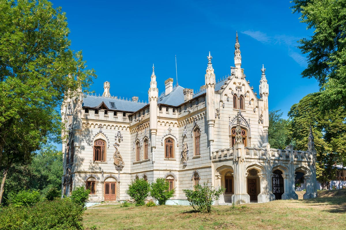 Miclauseni Castle, one of the most beautifull neo-gothic castles, belonged to Sturdza family