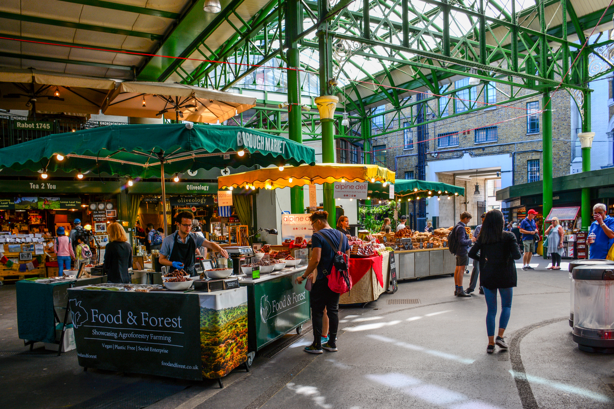 Morning Borough Market London getting up early