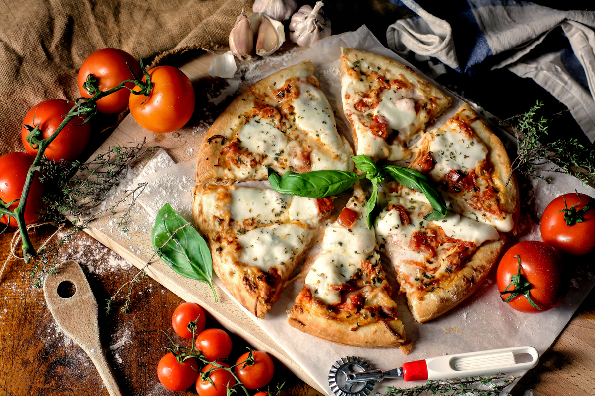 Traditional pizza Italian food