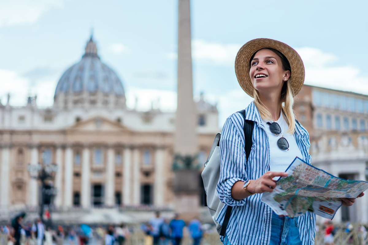 Woman sightseeing Vatican when can we travel again