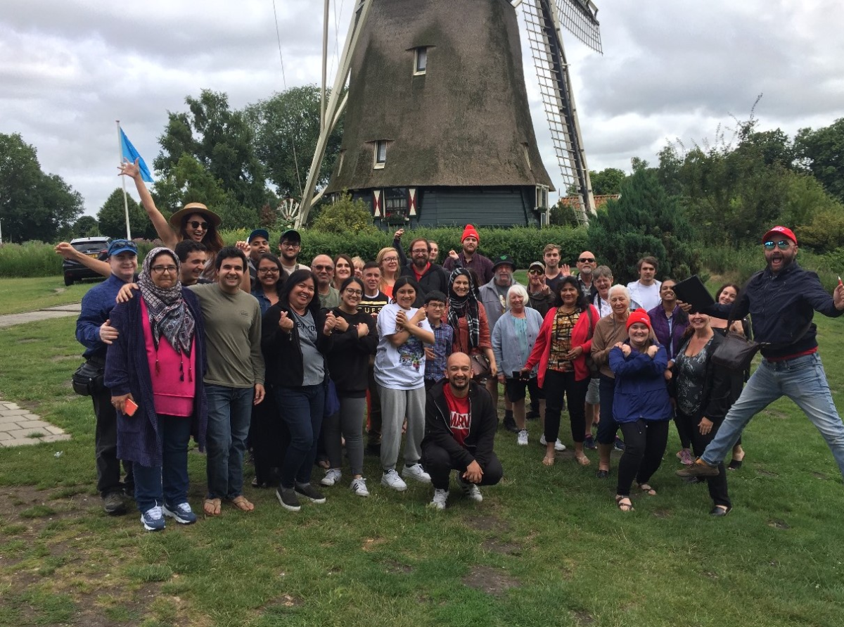 Group tour photo in the Netherlands travel friendships