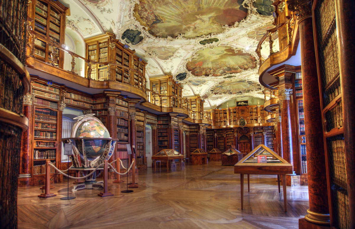 Abbey Library of St Gall Switzerland beautiful libraries