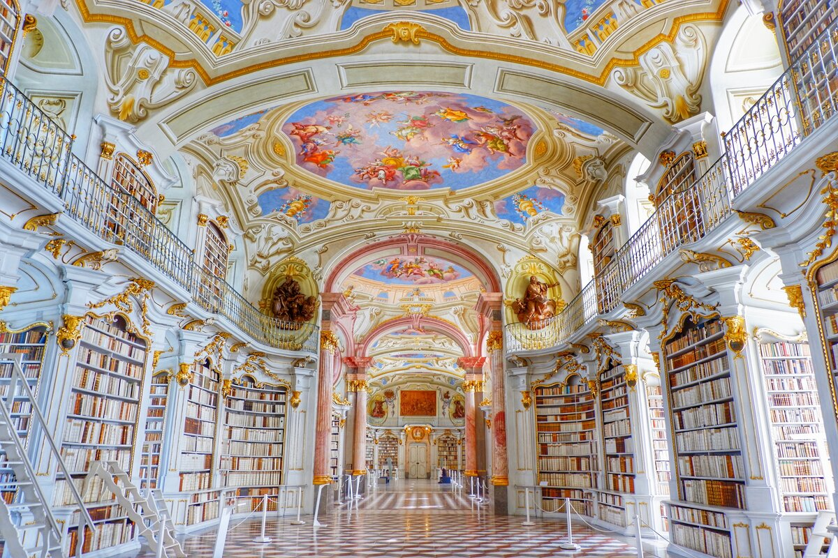 Admont Abbey Library Austria beautiful libraries