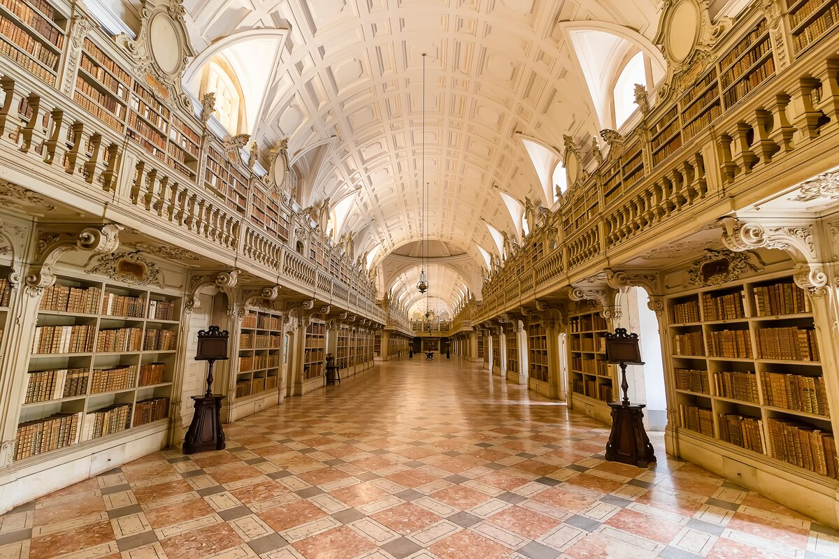 Mafra Palace Library Portugal beautiful libraries