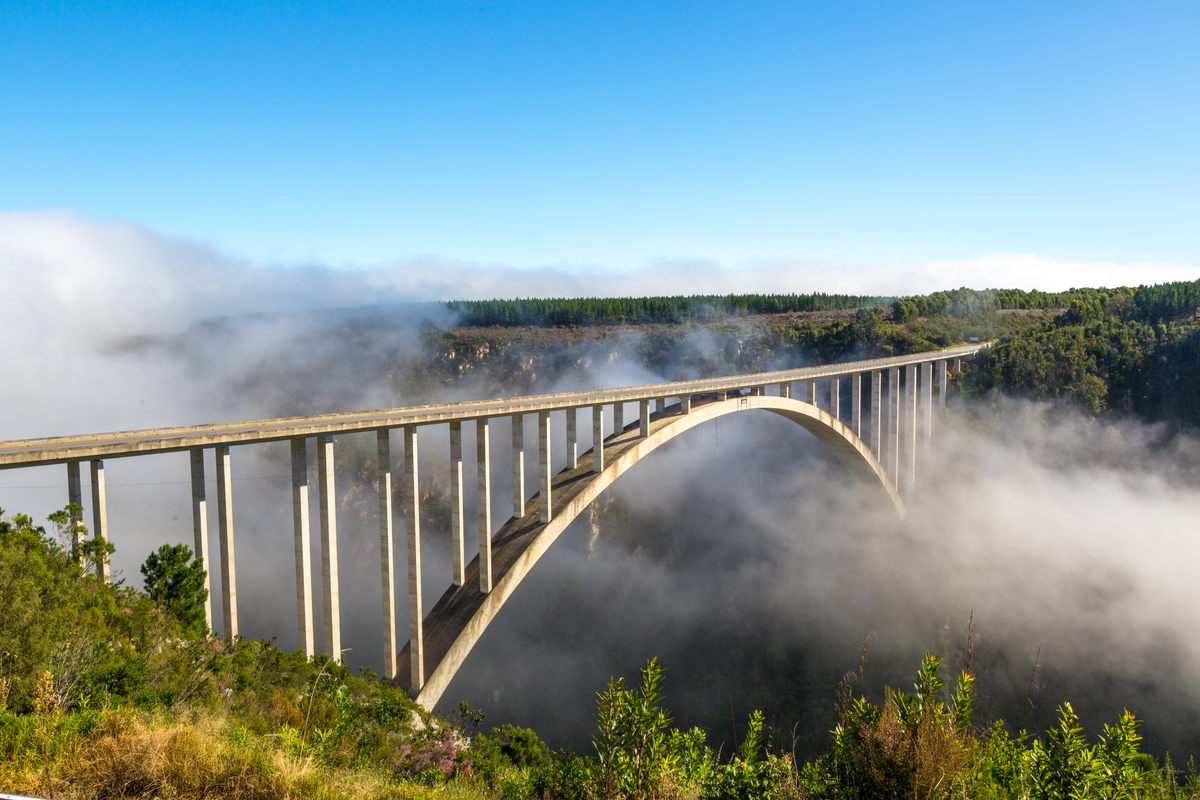 World's Highest Bungee Jump at Bloukrans Bridge in South Africa