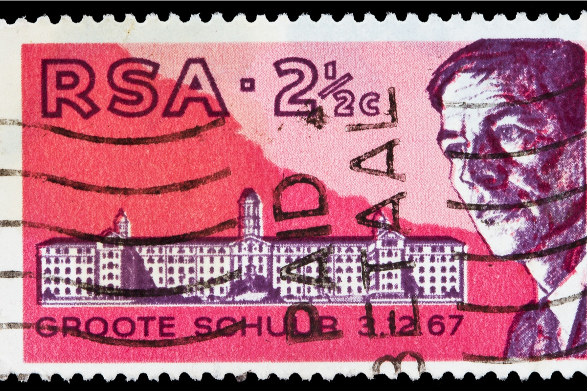 Postage stamp showing Dr Christiaan Barnard South Africa