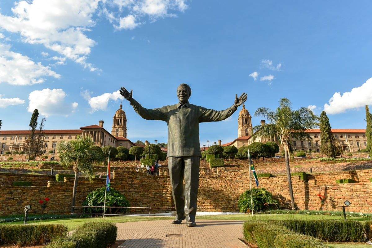 Nelson Mandela statue at the Union Buildings South Africa