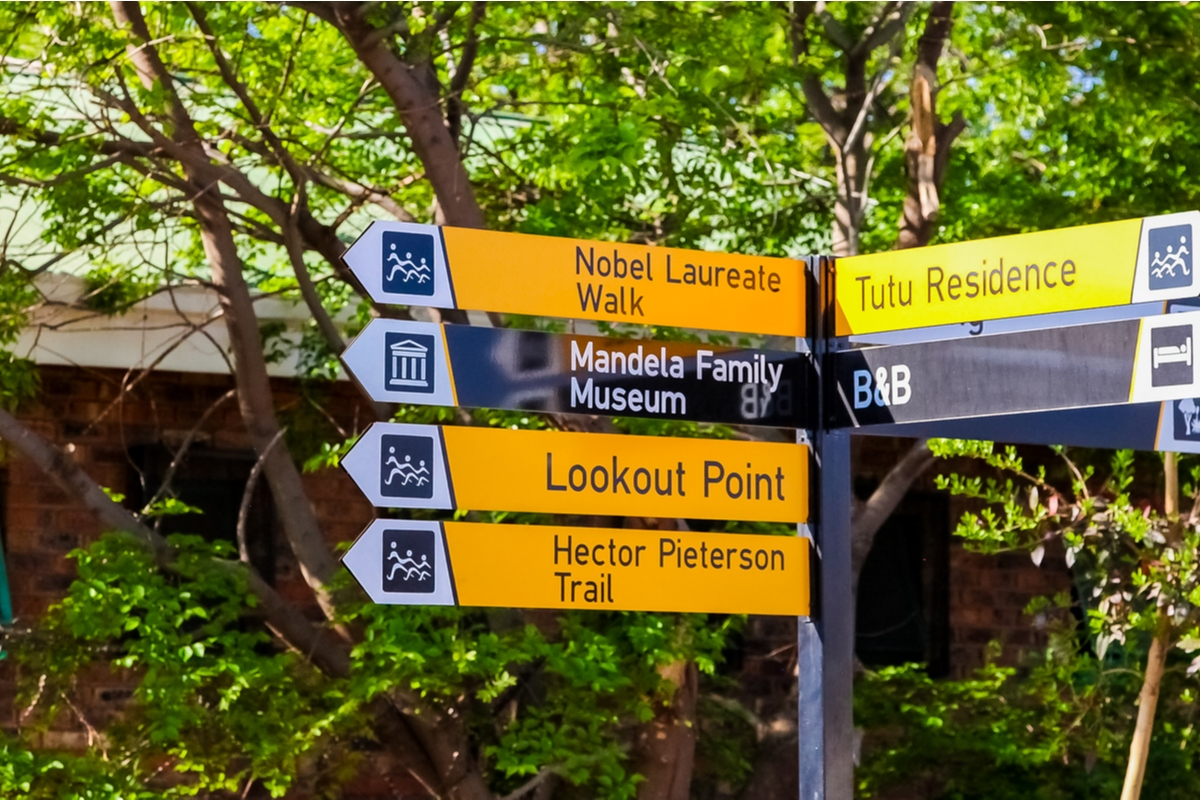 Sign post at Vilakazi Street in South Africa