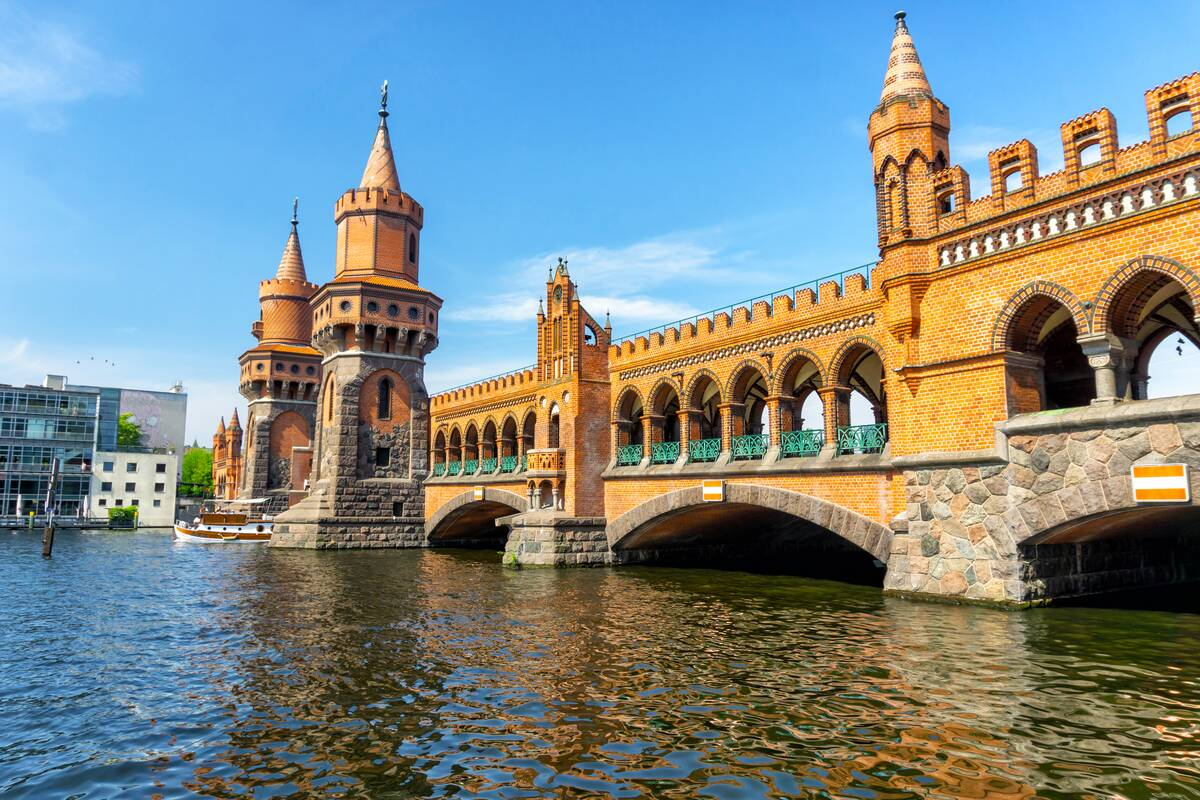 View of Oberbaumbrücke on the River Spree Berlin gems