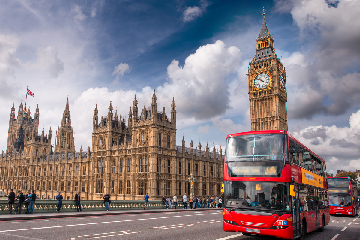 London bus and Big Ben UK Budget travel
