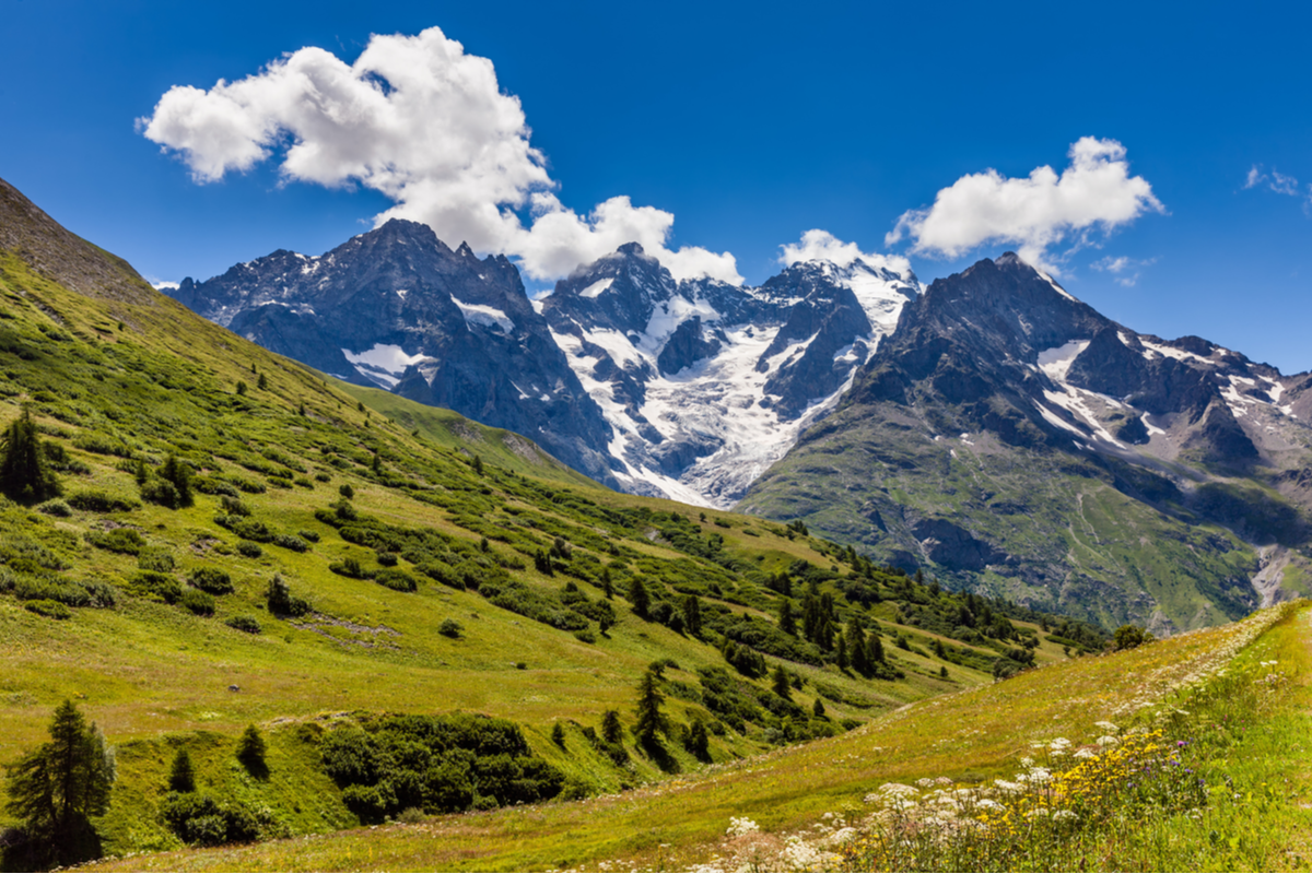 Mountain views Ecrins France Europe National Parks