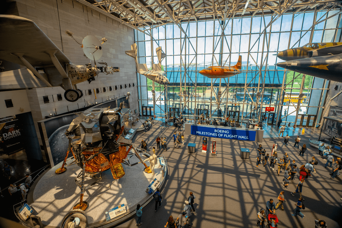 Smithsonian National Air and Space Travel Museum in Washington DC International Women's Day