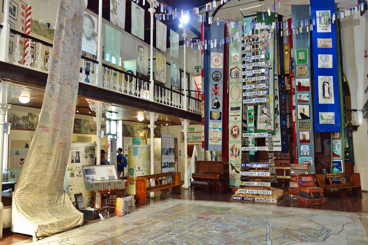 Interior display in District Six Museum Cape Town South Africa Freedom Day