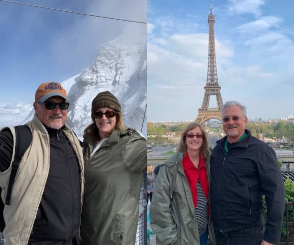 Couples holiday in Switzerland and Paris family travel