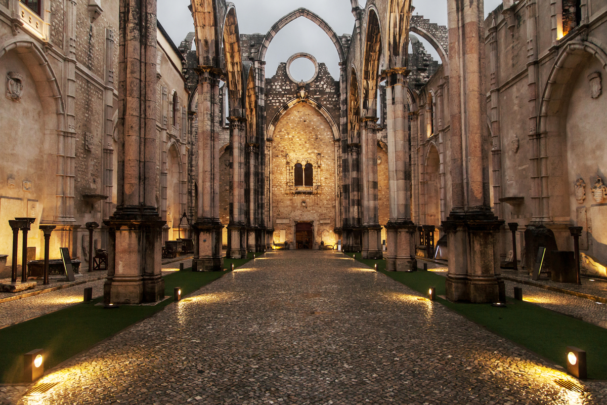 Ruins of Carmo Convent in Lisbon World Portugal Day
