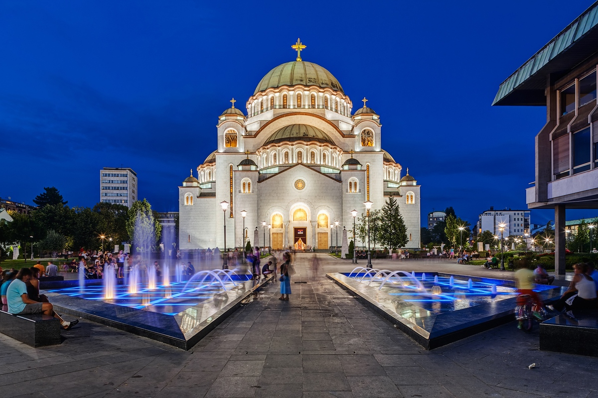 The Church of Saint Sava in Belgrade travelling to Serbia
